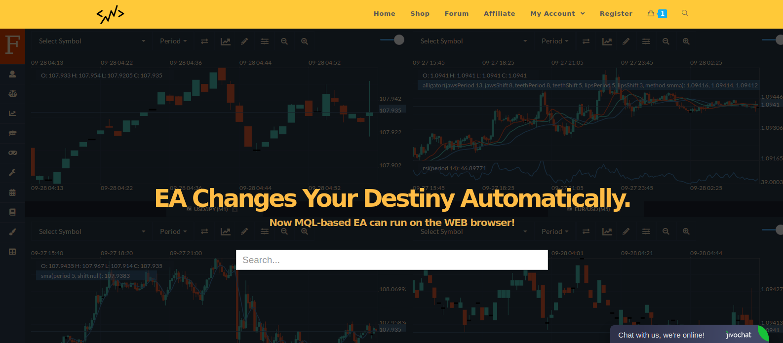 We built a new marketplace for selling EAs and indicators